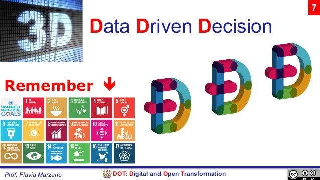 DOT: Digital and Open TransformationProf. Flavia Marzano Data Driven Decision Remember ê 7