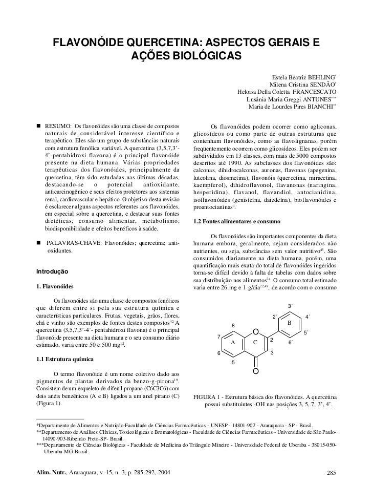 FLAVONÓIDE QUERCETINA: ASPECTOS GERAIS E                   AÇÕES BIOLÓGICAS                                               ...