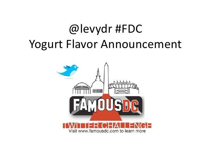 @levydr #FDC Yogurt Flavor Announcement