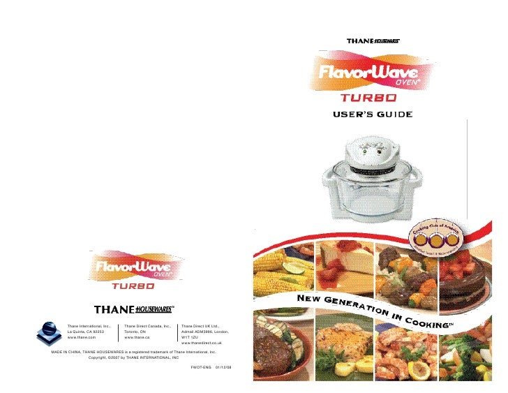 flavorwave oven user guide rh slideshare net TV Commercial Thane International Lawsuit