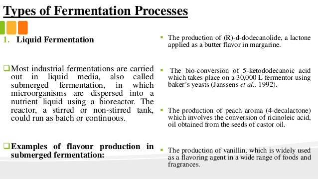 Flavour Production In Fermented Foods