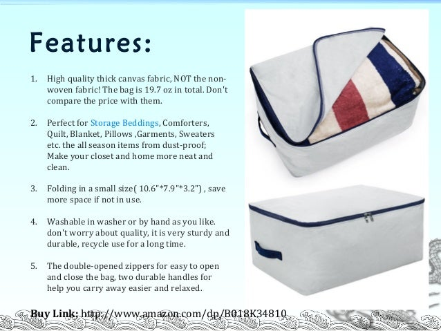 Flax u0026&; cotton fabric ultra size foldable storage bag for beddings comforters quilt blanket pillows garments sweaters organizer bag for season ...  sc 1 st  SlideShare & Flax u0026amp; cotton fabric ultra size foldable storage bag for beddingu2026