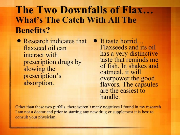 Flaxseed for Can fish oil cause constipation