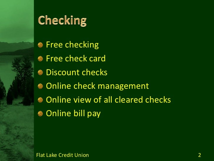 Services and Benefits of Credit Union Membership Slide 2