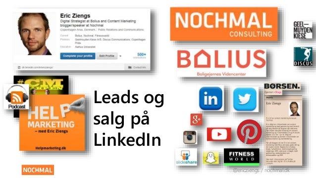 @ericziengs / nochmal.dk  Leads og  salg på  LinkedIn