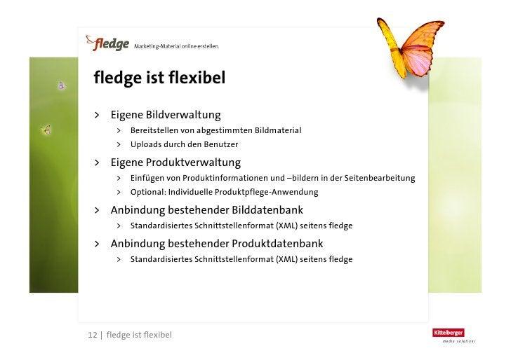 fledge spart Zeit                                 Beispiel: Erstellung einer                               Broschüre mit 1...