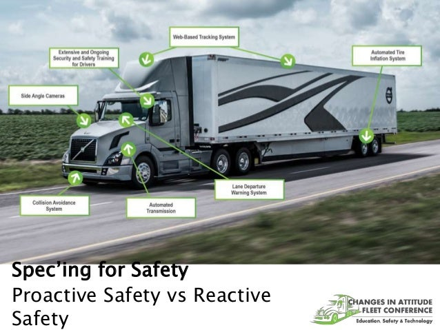 Spec'ing for Safety Proactive Safety vs Reactive Safety
