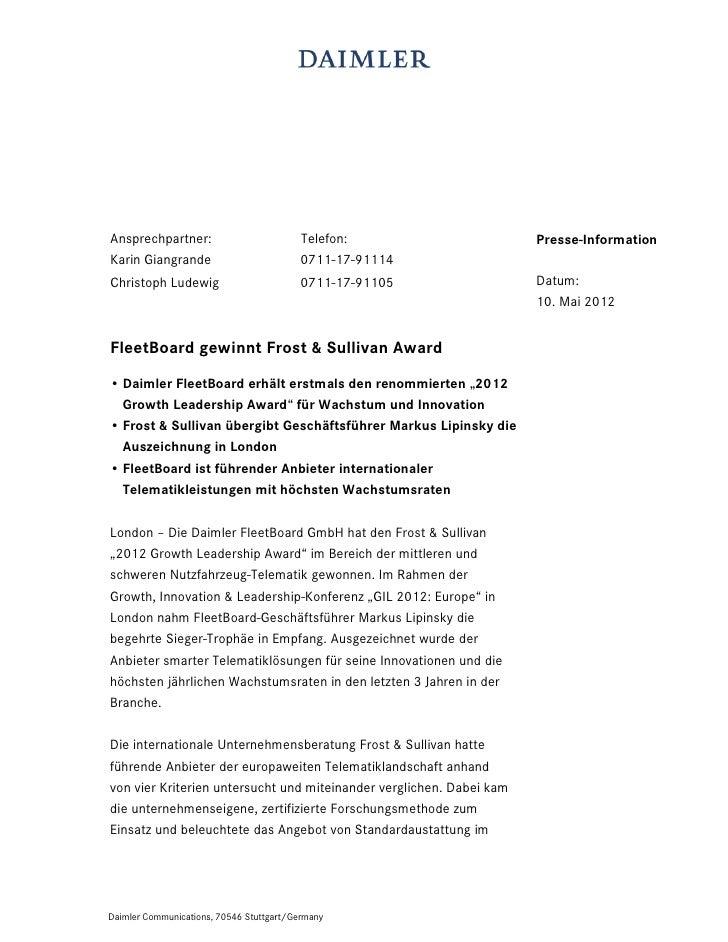 Ansprechpartner:                          Telefon:                    Presse-InformationKarin Giangrande                  ...