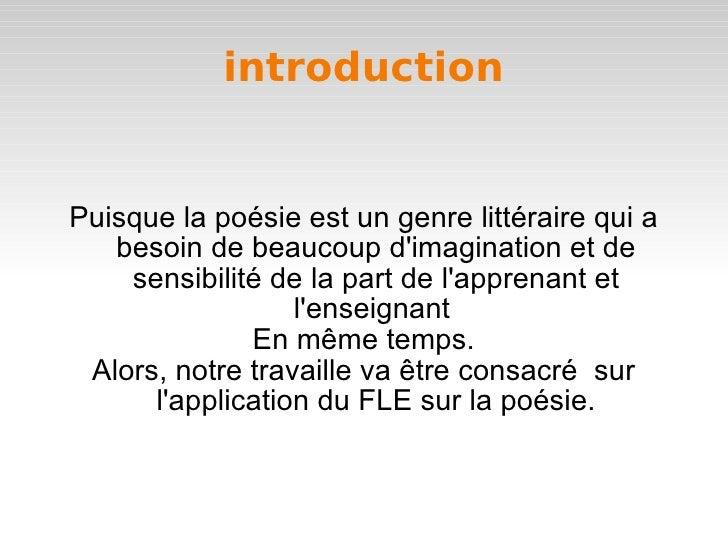 Fle Et La Poesie
