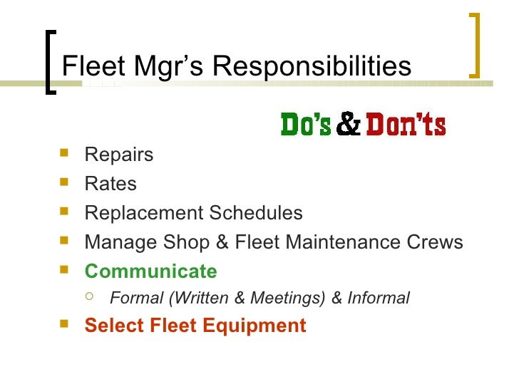 actplan limited fleet management engineering functions Roles and responsibilities manage operational plan and monitor operations manage performance and set standards while monitoring progress manage resources by identifying required and available resources such as technical staff, administrative staff, tools and equipments.