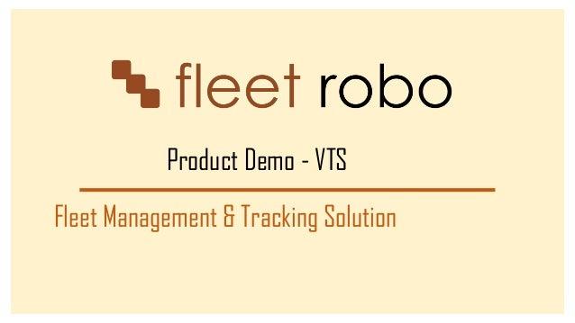 Fleet Robo Fleet Management Solution For Transportation