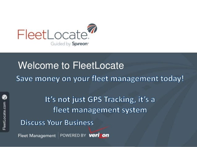 Welcome to FleetLocate
