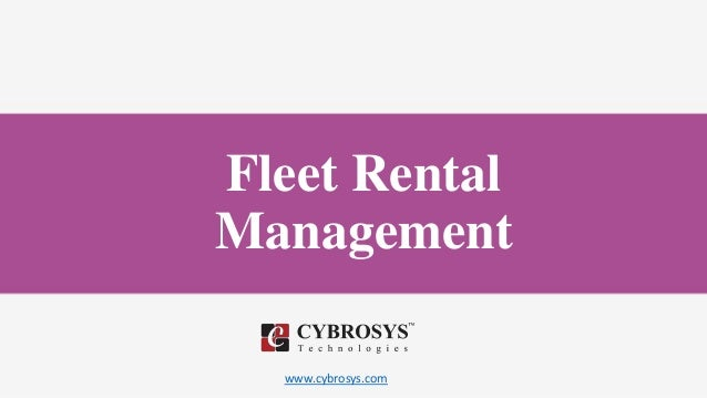 www.cybrosys.com Fleet Rental Management