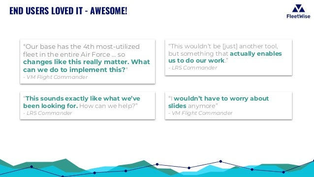 """END USERS LOVED IT - AWESOME! """"This sounds exactly like what we've been looking for. How can we help?"""" - LRS Commander """"I ..."""