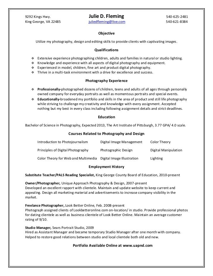photographer resume sample template page 2. freelance photographer ...