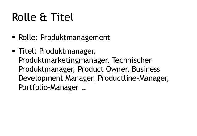 Aufgaben und Rollen im Produktmanagement Slide 3