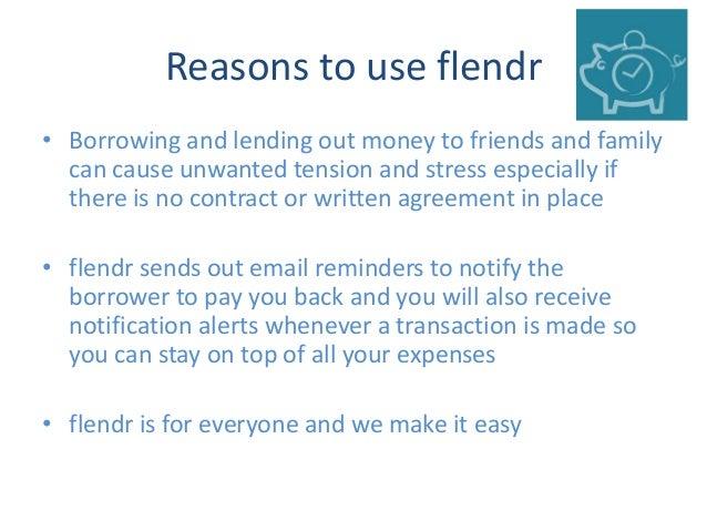 Contract between friends money Borrowing From