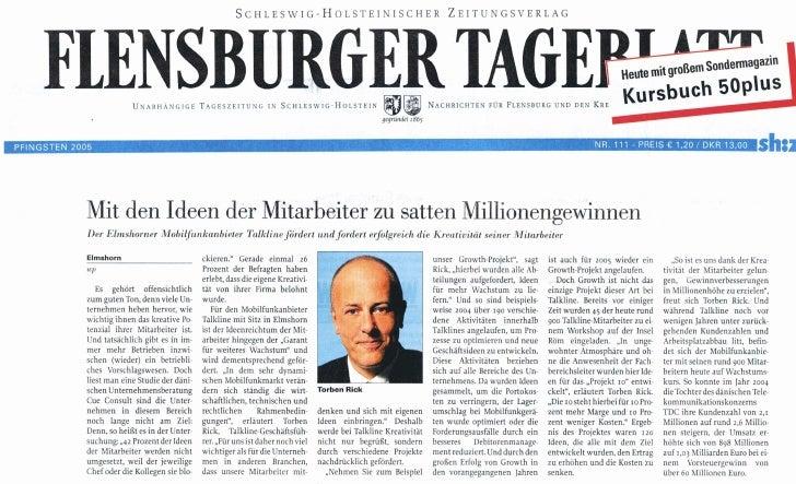 Mit den Ideen der Mitarbeiter zu satten Millionengewinnen - Flensburger Tageblatt