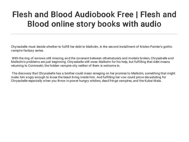 Flesh and Blood Audiobook Free | Flesh and Blood online story books w…