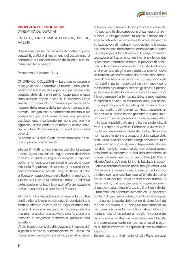 Le proposte di legge del pd sulla flessibilit del sistema for Onorevoli pd donne