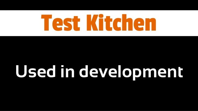 Test Kitchen Chef Server