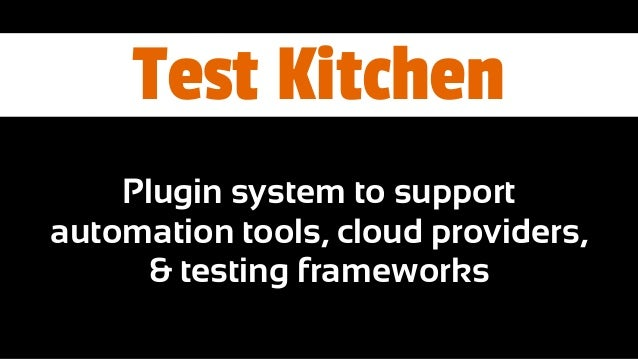 Test Kitchen And Infrastructure As Code