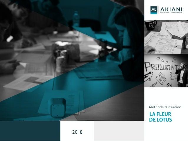 1 Méthode d'idéation LA FLEUR DE LOTUS 2018