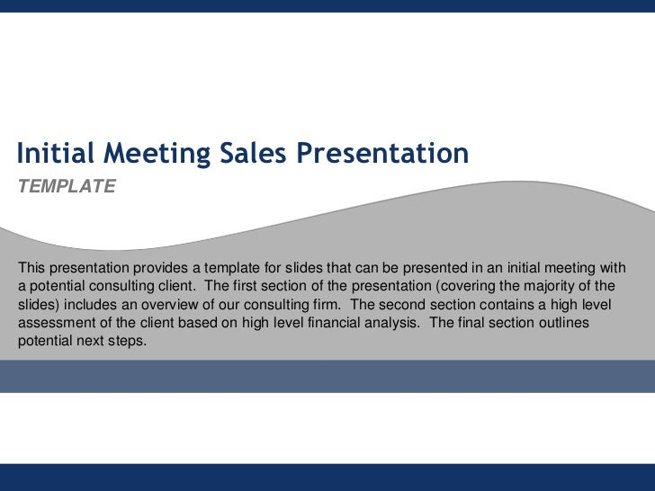 flevycom initial meeting sales presentation