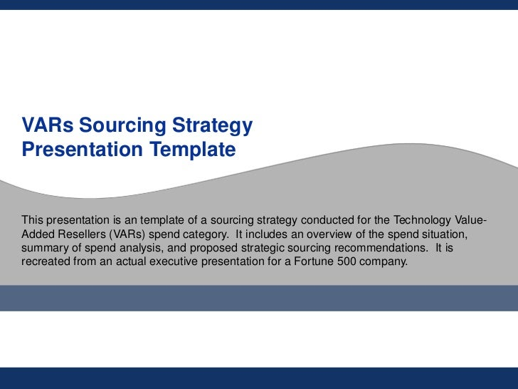 flevycom technology vars sourcing strategy template