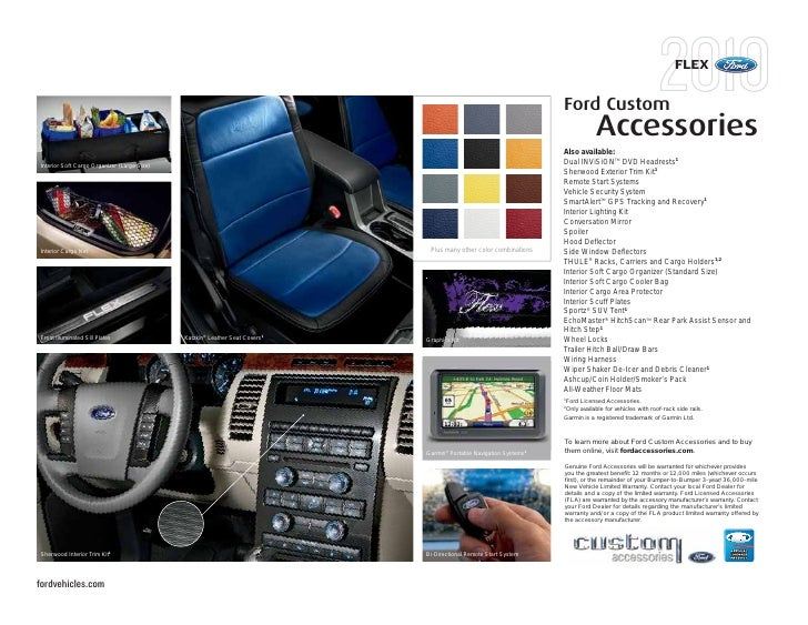 2010 ford flex new mexico Ford F-150 Wiring Diagram flex ford custom accessories also available interior soft cargo organizer (large size) dual invisiontm dvd headrests1 sherwood exterior trim kit1 remote