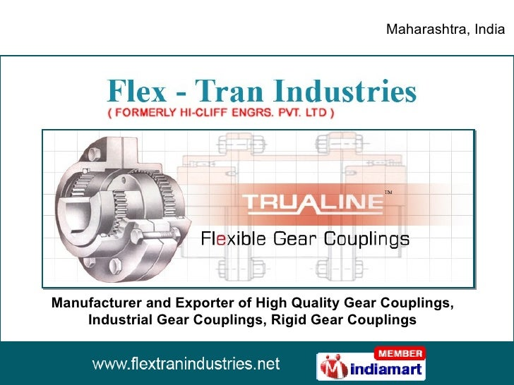 Manufacturer and Exporter of High Quality Gear Couplings, Industrial Gear Couplings, Rigid Gear Couplings Maharashtra, India