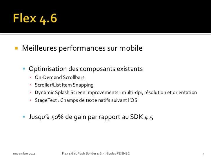  Native OS text input control (StageText)novembre 2011   Flex 4.6 et Flash Builder 4.6 - Nicolas PENNEC   4