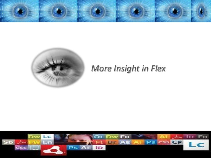More Insight in Flex                4/5/2012   1