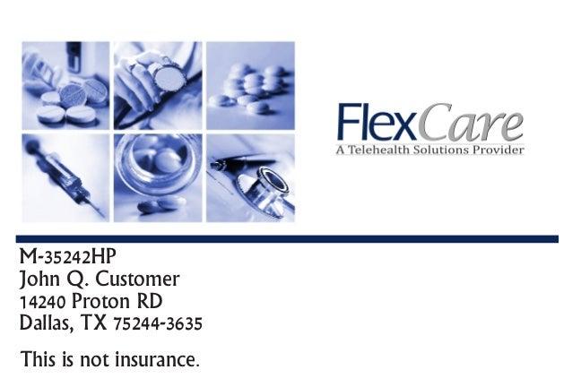 M-35242HP John Q. Customer 14240 Proton RD Dallas, TX 75244-3635 This is not insurance.