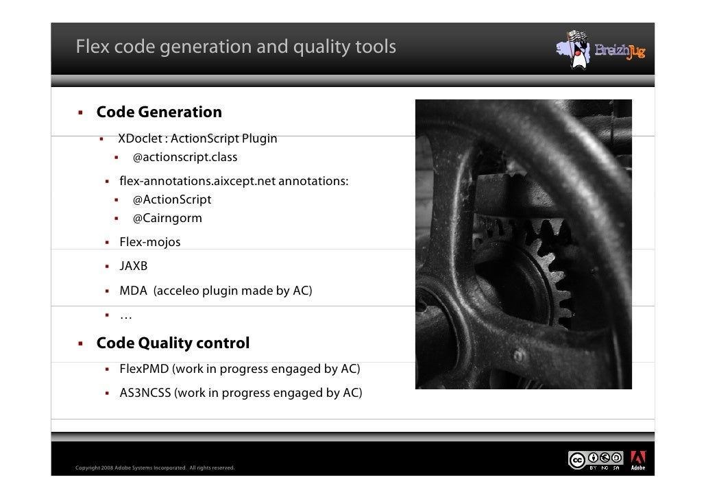 Flex code generation and quality