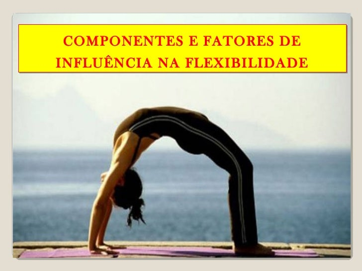 COMPONENTES E FATORES DEINFLUÊNCIA NA FLEXIBILIDADE