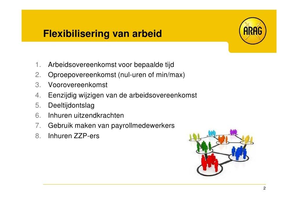 Flexibiliteit tijdens de arbeidsovereenkomst Slide 2