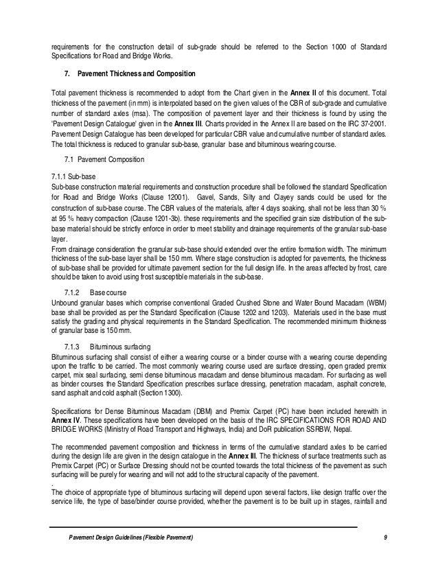 Flexible Pavement Design Guidelines Flexible Pavement By Do R Nepal