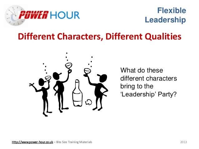 Flexible leadership Slide 3