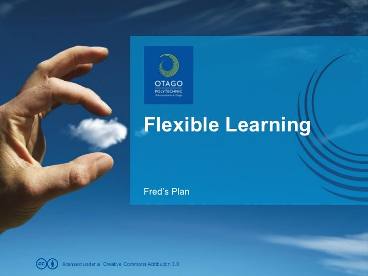 Flexible Learning Fred's Plan