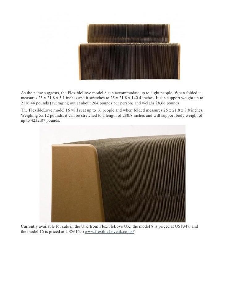 Flexible Love Expandable And Adjustable Chair David Novak