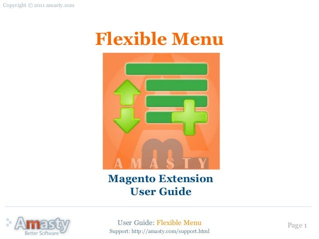 flexible menu magento extension by amasty user guide rh slideshare net User Webcast Example User Guide