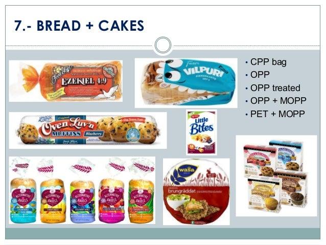7.- BREAD + CAKES • CPP bag  • OPP • OPP treated  • OPP + MOPP • PET + MOPP