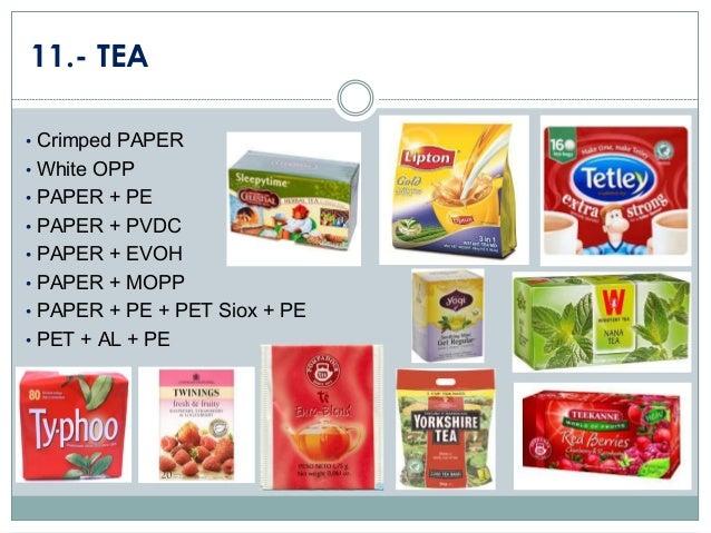 11.- TEA • Crimped PAPER • White OPP • PAPER + PE • PAPER + PVDC • PAPER + EVOH  • PAPER + MOPP • PAPER + PE + PET Siox + ...