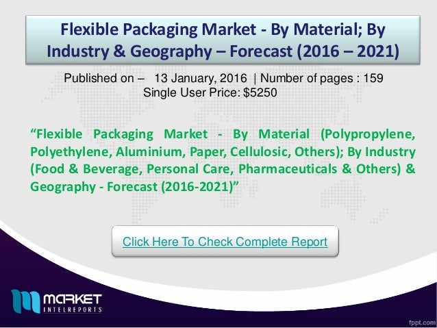 "Flexible Packaging Market - By Material; By Industry & Geography – Forecast (2016 – 2021) ""Flexible Packaging Market - By ..."