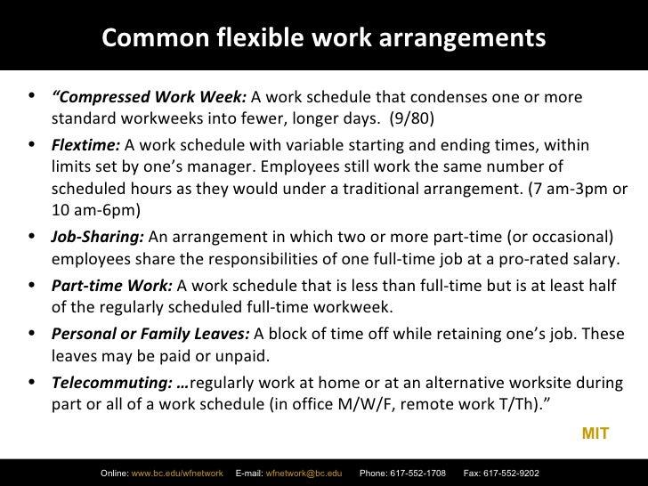 Flexible Work Arrangements Slideshare 2 26 09 Revised
