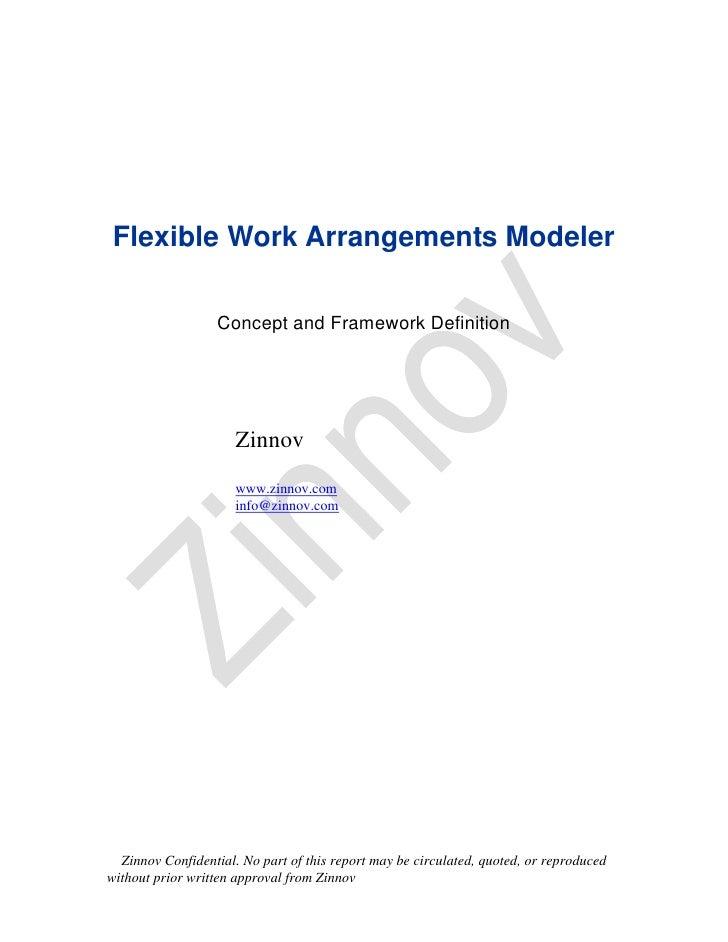 Flexible Work Arrangements Modeler                  Concept and Framework Definition                      Zinnov          ...