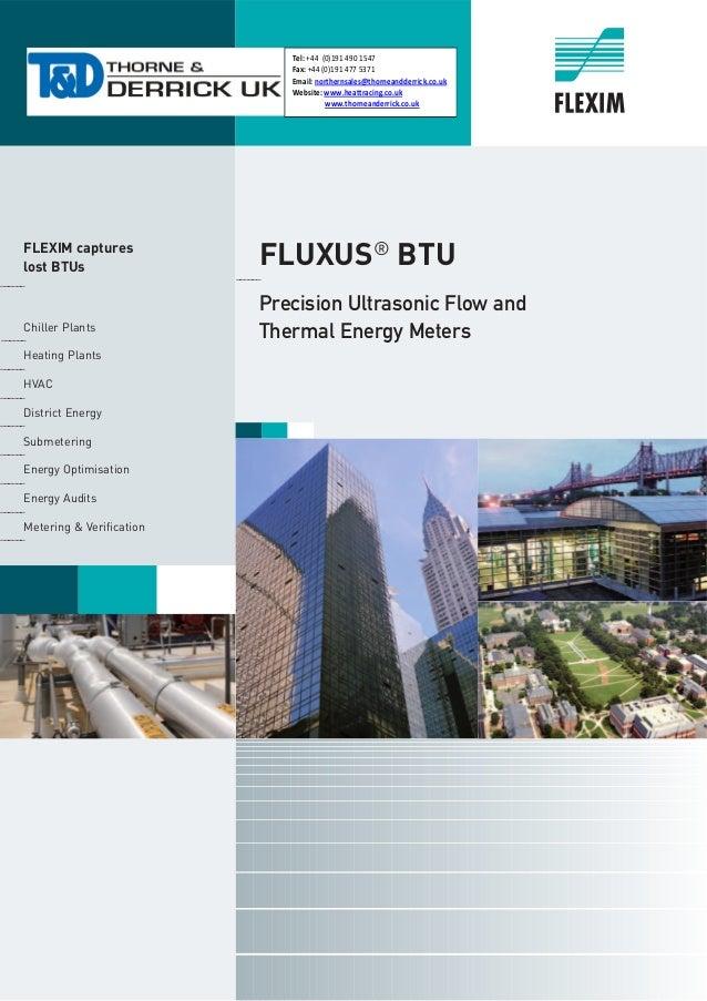 Flexim Fluxus Ultrasonic Flow Meters Heat Quantity Btu