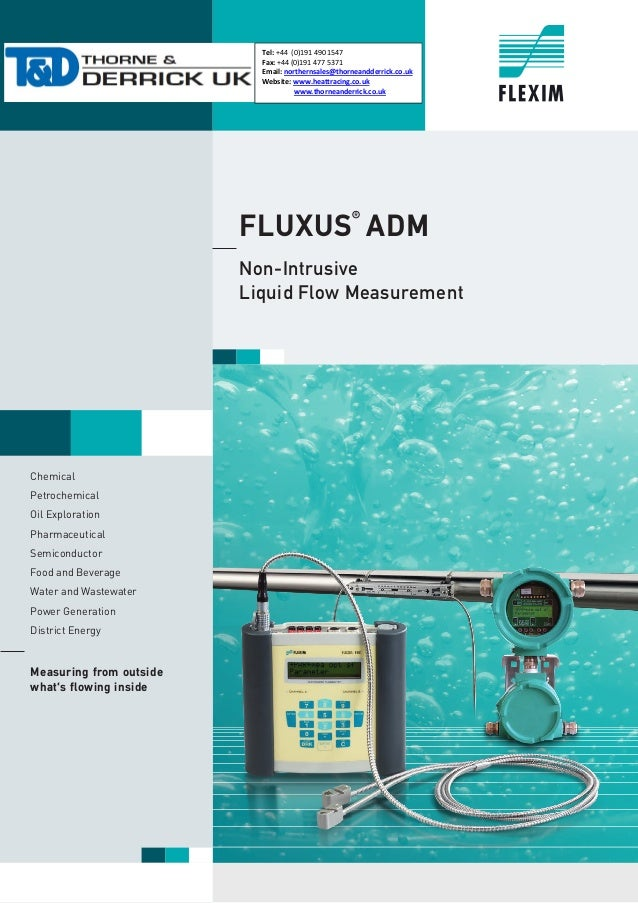 FLUXUS® ADM Non-Intrusive Liquid Flow Measurement Chemical Petrochemical Oil Exploration Pharmaceutical Semiconductor Food...