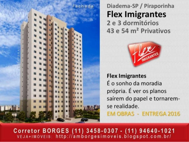 CORRETOR BORGES (11) 3458-0307 - APTOS em Diadema - Apartamentos em Diadema SP - ABCDM - SÃO PAULO E GDE SP.